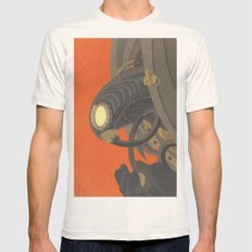 SongBird - BioShock Infi… Mens Fitted Tee Natural SMALL