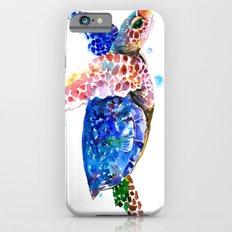 Sea Turtle, blue rainbow iPhone 6 Slim Case