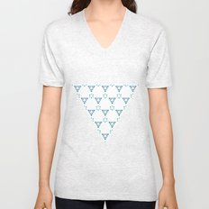 Little blue triangles Unisex V-Neck