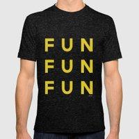Fun Fun Fun Mens Fitted Tee Tri-Black SMALL