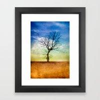ATMOSPHERIC TREE | Autum… Framed Art Print