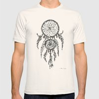 Dreamcatcher Pixel Art Mens Fitted Tee Natural SMALL