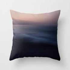 Seascape blue Throw Pillow