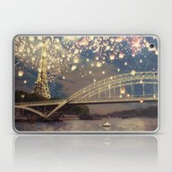 Laptop & iPad Skin featuring Love Wish Lanterns Over … by Paula Belle Flores