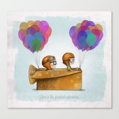 UP Pixar — Love is the greatest adventure  Canvas Print