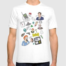 The X-Files SMALL Mens Fitted Tee White