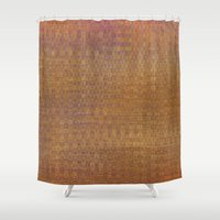 Square textured wicker Shower Curtain