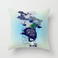 Brainvacation Throw Pillow
