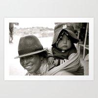 Ecuadorian Mother And Ch… Art Print