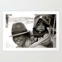 Ecuadorian Mother and Child Art Print