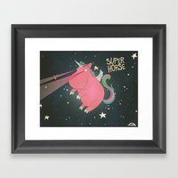Super Horse... Unicorn D… Framed Art Print