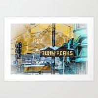 TwinPeaker's Corner In C… Art Print