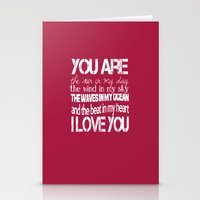 You Are My Valentine Stationery Cards