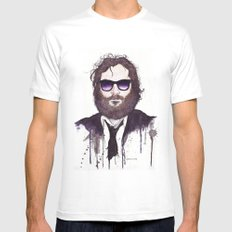 Joaquin Phoenix SMALL White Mens Fitted Tee