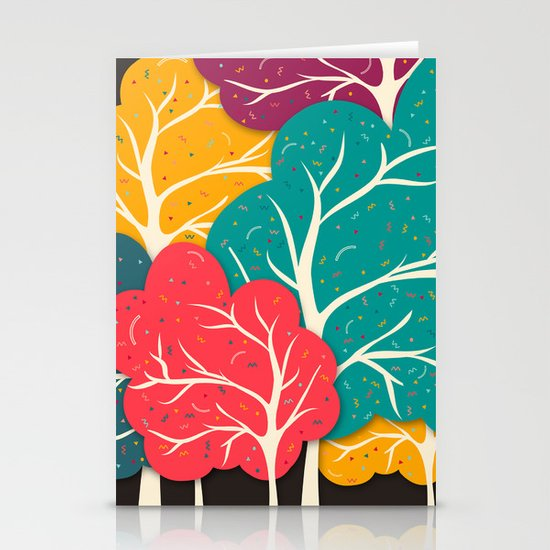 Happy Forest Stationery Card