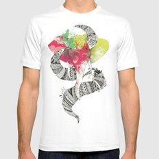 Art'lephant. White Mens Fitted Tee SMALL