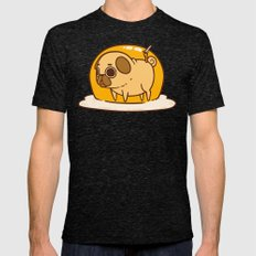 Puglie Egg Mens Fitted Tee Tri-Black SMALL