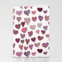 Artsy Hearts Stationery Cards