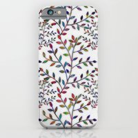 iPhone & iPod Case featuring Small, Colorful Leaves  by Klara Acel