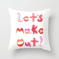 Let's Make Out! Throw Pillow