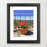 Plant With A View Framed Art Print