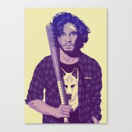 Canvas Print featuring GAME OF THRONES 80/90s E… by Mike Wrobel