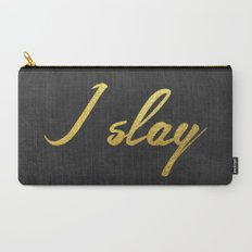 I slay ( gold typography) Carry-All Pouch