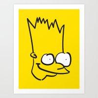 Badly Drawn Bart Art Print