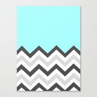Color Blocked Chevron 16 Canvas Print