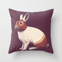 Lapin Catcheur (Rabbit W… Throw Pillow
