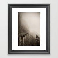 Misty Bridge Framed Art Print