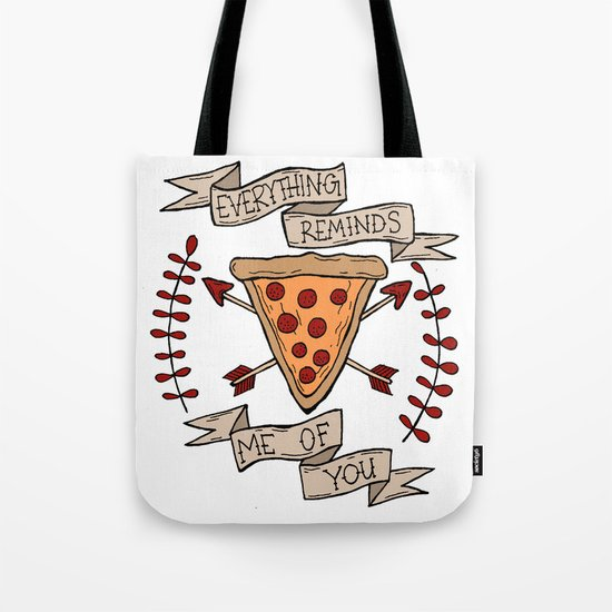 Everything Reminds Me of You Tote Bag
