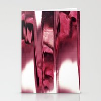 blurred blood portrait Stationery Cards