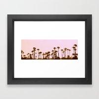 The Palm Trees Framed Art Print
