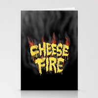 CHEESE FIRE!!! Stationery Cards