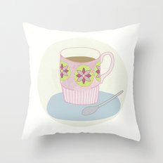 Retro Coffee Throw Pillow