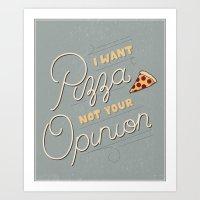 Sassy Pizza Art Print