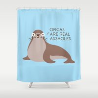 Seal of Reproval Shower Curtain