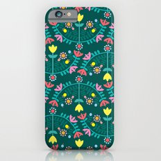 Folk Flowers Green Slim Case iPhone 6s