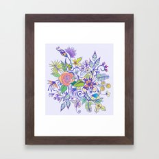 Floral Blue Framed Art Print