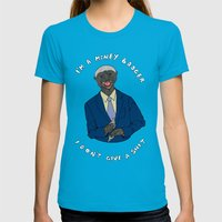 The One Percent Womens Fitted Tee Teal SMALL