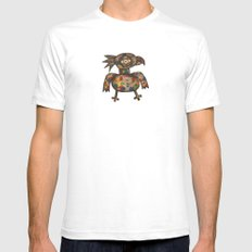 The Green Parrot Mens Fitted Tee White SMALL