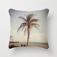 Palm Tree Water Tropical Plant Color Photography Throw Pillow