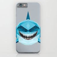 iPhone Cases featuring S is for Shark by LinnMaria_ink