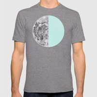 Half Moon Mens Fitted Tee Tri-Grey SMALL