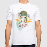 War Girl Mens Fitted Tee Ash Grey SMALL