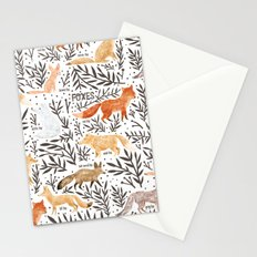 Foxes Field Guide Stationery Cards