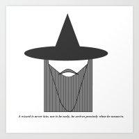 Gandalf Minimalist Art Print