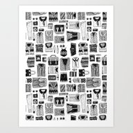 Travel Essentials Patter… Art Print