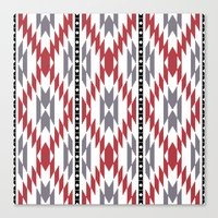 Ethnic Rug Pattern Canvas Print